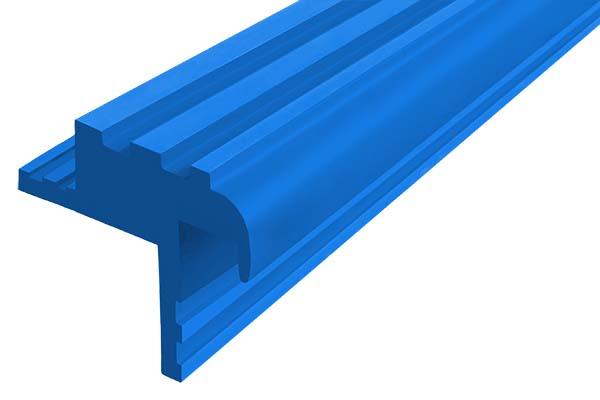 Закладной гибкий профиль Безопасный Шаг (БШ-30) синего цвета с двумя закладными элементами