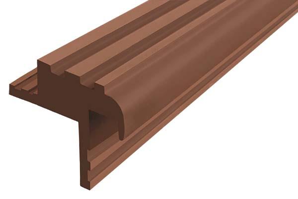 Закладной гибкий профиль Безопасный Шаг (БШ-30) коричневого цвета с двумя закладными элементами