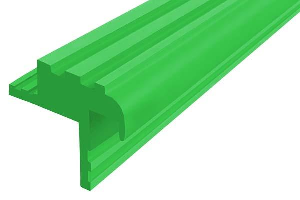 Закладной гибкий профиль Безопасный Шаг (БШ-30) зеленого цвета с двумя закладными элементами