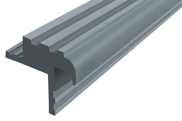 Закладной гибкий профиль Безопасный Шаг (БШ-30) серого цвета с двумя закладными элементами