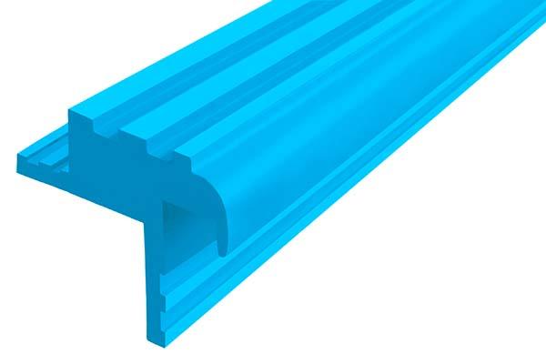 Закладной гибкий профиль Безопасный Шаг (БШ-30) голубого цвета с двумя закладными элементами