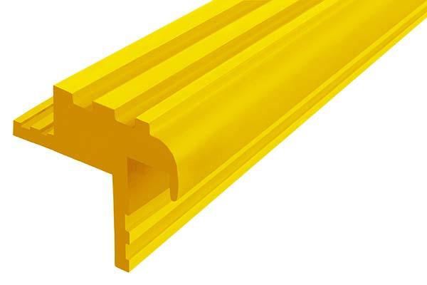 Закладной гибкий профиль Безопасный Шаг (БШ-30) желтого цвета с двумя закладными элементами