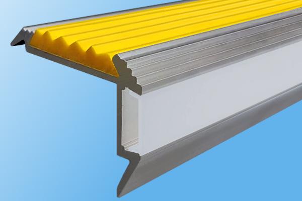 Алюминиевый накладной профиль против скольжения с светодиодной подсветкой