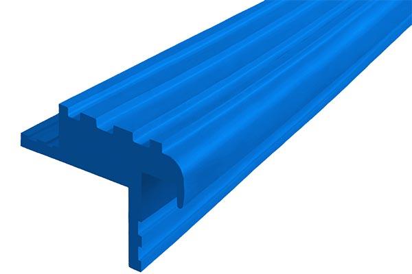 Закладной гибкий профиль Безопасный Шаг (БШ-40) синего цвета с двумя закладными элементами