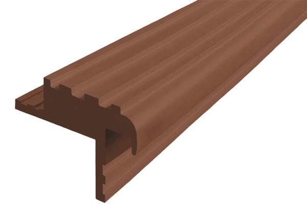 Закладной гибкий профиль Безопасный Шаг (БШ-40) коричневого цвета с двумя закладными элементами