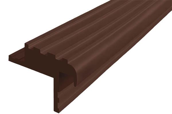 Закладной гибкий профиль Безопасный Шаг (БШ-40) темно-коричневого цвета с двумя закладными элементами