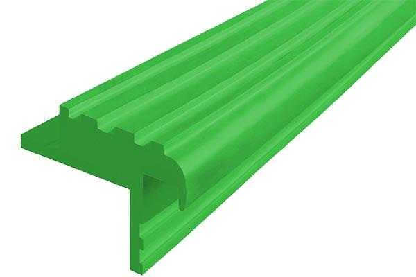 Закладной гибкий профиль Безопасный Шаг (БШ-40) зеленого цвета с двумя закладными элементами