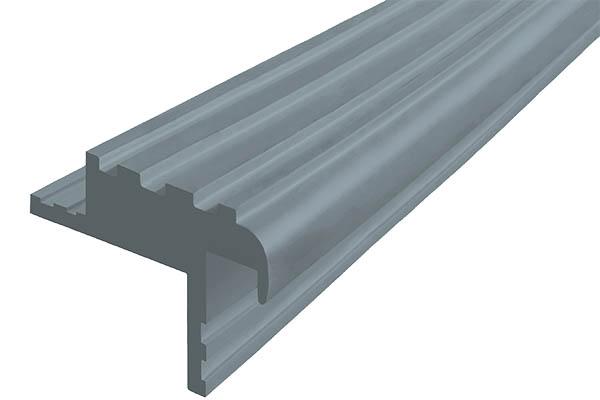 Закладной гибкий профиль Безопасный Шаг (БШ-40) серого цвета с двумя закладными элементами