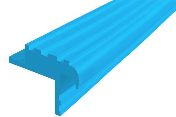 Закладной гибкий профиль Безопасный Шаг (БШ-40) голубого цвета с двумя закладными элементами