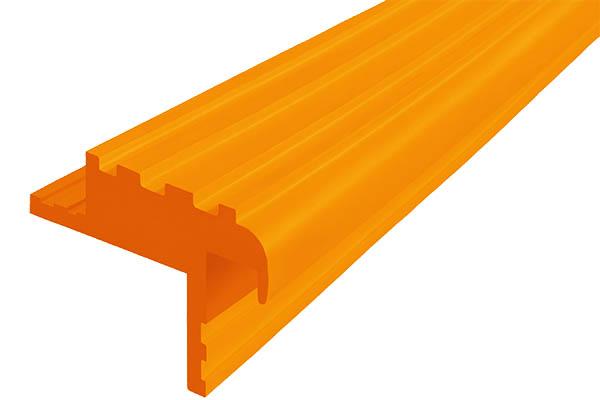 Закладной гибкий профиль Безопасный Шаг (БШ-40) оранжевого цвета с двумя закладными элементами