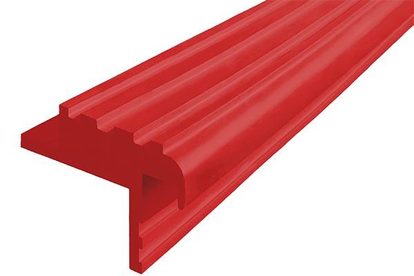 Закладной гибкий профиль Безопасный Шаг (БШ-40) красного цвета с двумя закладными элементами
