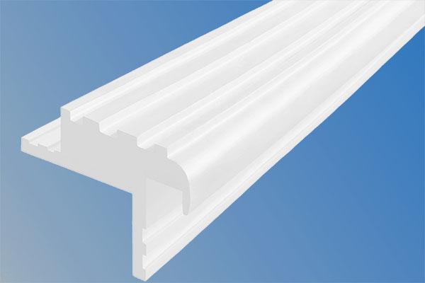 Закладной гибкий профиль Безопасный Шаг (БШ-40) белого цвета с двумя закладными элементами