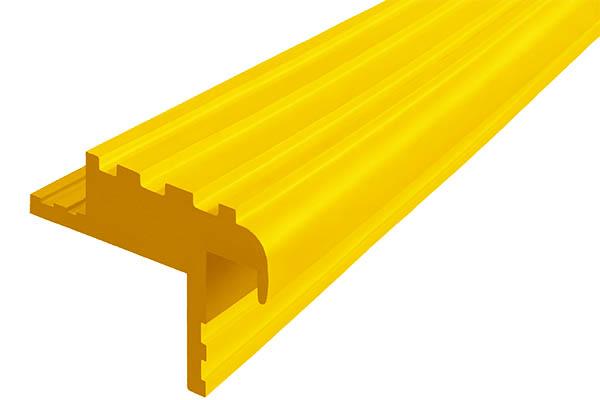Закладной гибкий профиль Безопасный Шаг (БШ-40) желтого цвета с двумя закладными элементами