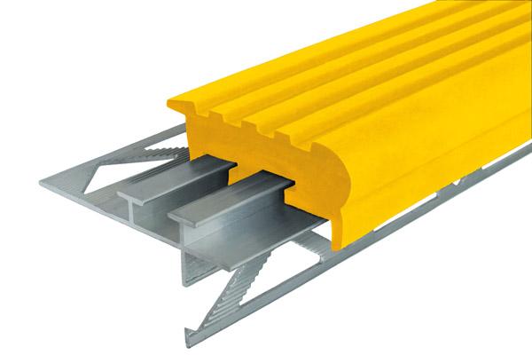 Алюминиевый профиль Уверенный Шаг с двумя закладными элементами