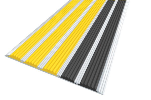 Алюминиевая накладная полоса с пятью вставками против скольжения