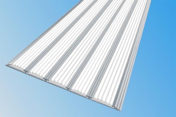 Алюминиевая накладная полоса с пятью белыми вставками против скольжения