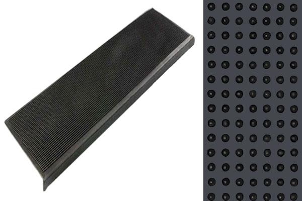 Противоскользящая накладка на ступени Классик с бортиком из резины
