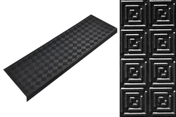 Противоскользящая накладка на ступени Модерн с бортиком из резины
