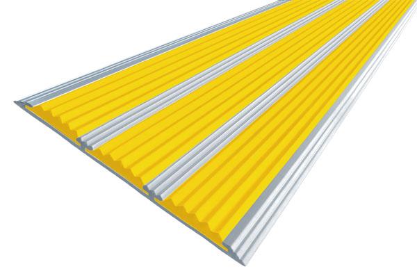 Алюминиевая накладная полоса АП100 с тремя вставками против скольжения